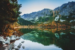 Poprad lake, High Tatras, Slovakia