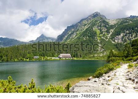 Popradske Tarn, Vysoke Tatry (High Tatras), Slovakia - stock photo