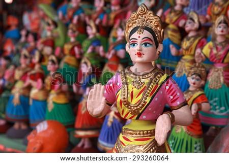 Popular dancing dolls of Tanjore.Selectively focused. Zdjęcia stock ©