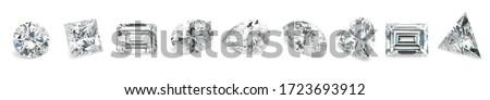 Popular Diamond Shapes Isolated Diamond Shapes on White Background
