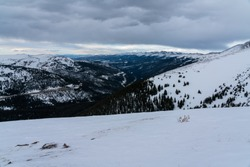 Popular for hiking and backcountry skiing/snowboarding, Berthoud Pass on the way down to Winter Park, Colorado