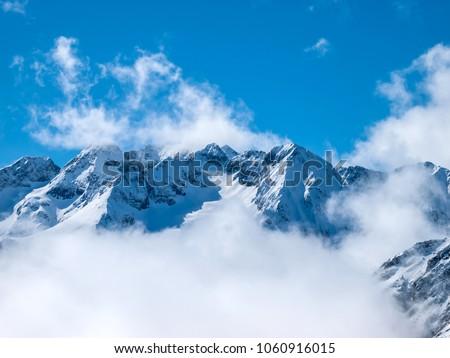 Popular French ski resort Les 2 Alpes. #1060916015