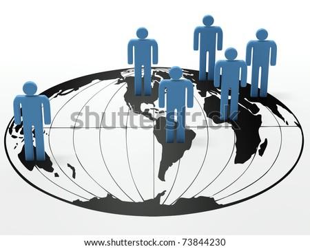 Population - stock photo