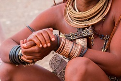 population himba namibia country africa