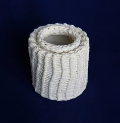 porcelain form ceramic exhibition   white