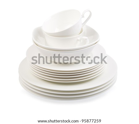 porcelain plate isolated on a white