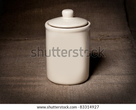 Porcelain service - stock photo