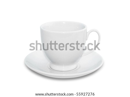 Porcelain tea cup isolated on a white background