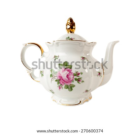 porcelain teapot with a pattern ...