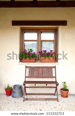 Porch of a cottage to relax