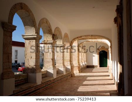 Porch of Nossa Senhora da Nazare sanctuary