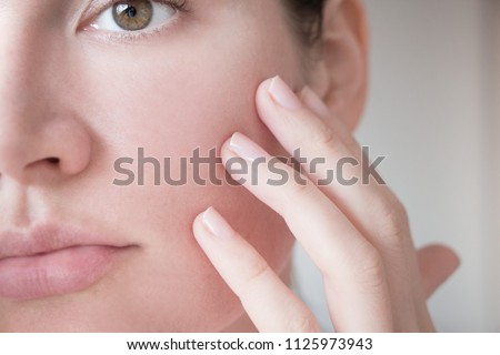 pores on the skin of the face. Cleansing the face skin