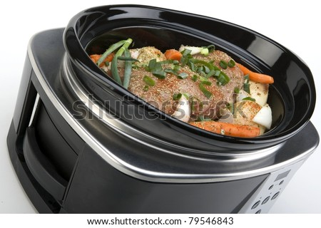 Pork Roast and Vegetables in a Slow Cooker