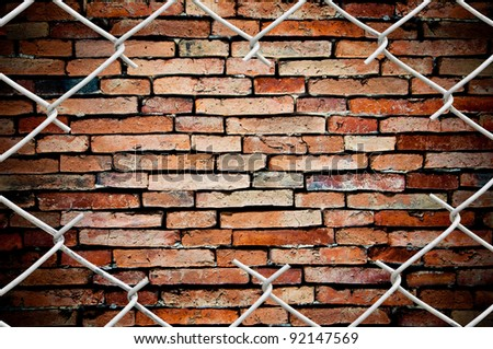 porous on grunge fence and wall
