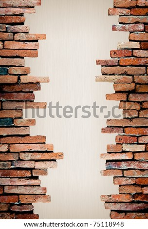 porous on grunge wall see the metal background - stock photo