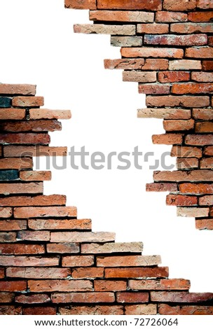 porous wall for background
