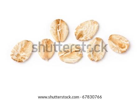 Porridge Flakes macro