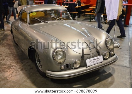 Porsche Coup grey 1600 at Vintage cars and motorbikes, Padova Italy - oct 25 2015 #698878099