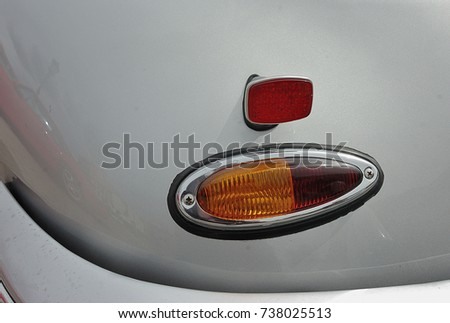 Stock Photo Porsche 356. Tail light detail