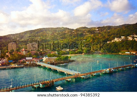 Port at Ocho Rios in Jamaica