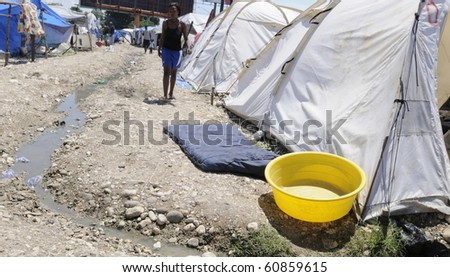 PORT-AU-PRINCE - AUGUST 28:  Residents dry everything outside as sometimes there isn't not enough space to dry clothes ,  in Port-Au-Prince, Haiti on August 28, 2010.