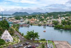 port city Castries, St.Lucia, Caribbean