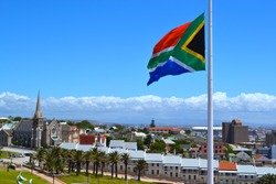 Port Elizabeth South Africa flag half-mast