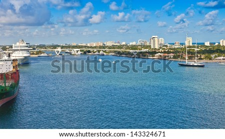 Port Everglades, cruise port and seaport, in Ft. Lauderdale, Florida