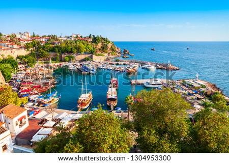 Port in Antalya old town or Kaleici in Turkey