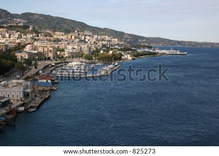Port in Messina, Italy