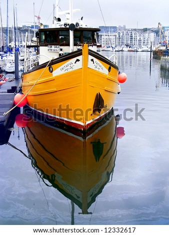 Port in Plymouth. - stock photo