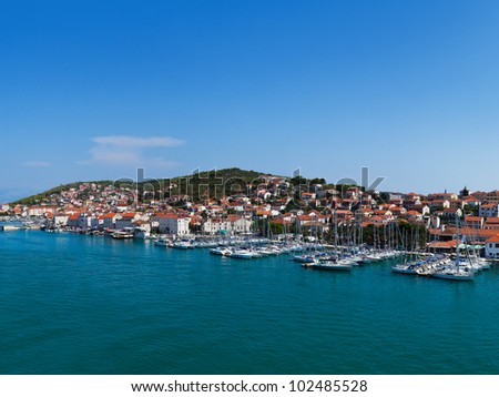 Port in Trogir at Croatia - architecture background