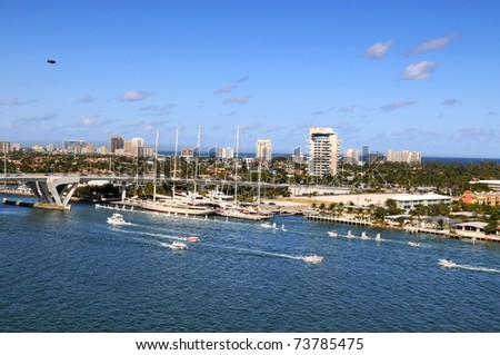 Port of Fort Lauderdale during sunny day