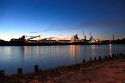 Port of Gdansk in the morning