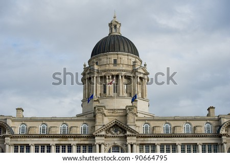 """Port of Liverpool Building. One of the famous """"Three Graces"""" buildings at the Pier Head, Liverpool, United Kingdom"""