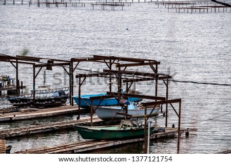 Port of oyster farming, oyster farming #1377121754