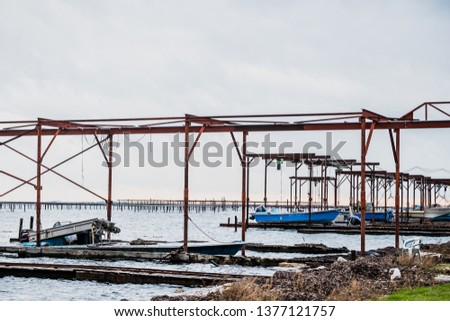Port of oyster farming, oyster farming #1377121757