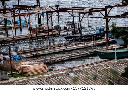 Port of oyster farming, oyster farming #1377121763