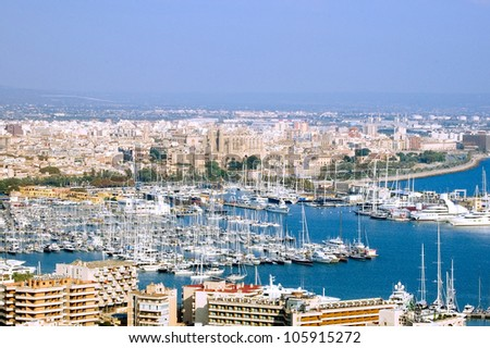 PORT OF PALMA DE MALLORCA, BALEARIC ISLANDS, MAJORCA, SPAIN