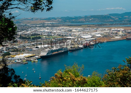 Port of Tauranga, the largest port in the country both in terms of total cargo volume, and in terms of container throughput with container volumes exceeding 950,000 TEUs.