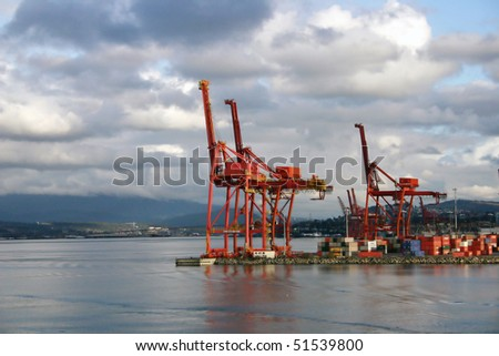Port of Vancouver. Container terminal.