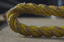 Port rope. Mooring rope. Rope for fastening ships and cargo.
