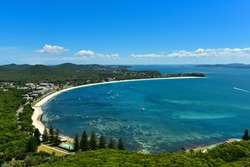 Port Stephens bay, view from Tomaree Head lookout