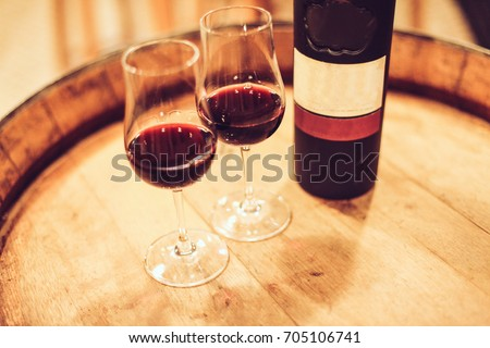 port wine on barrel