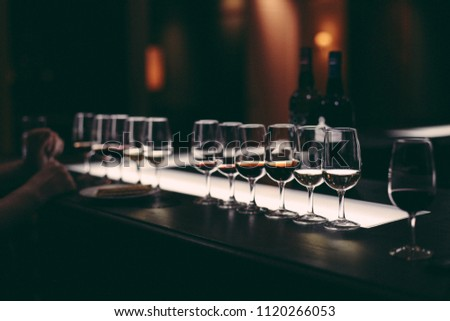 Port wine tasting in cellar restaurant #1120266053