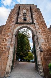 Porta Rocca Della Fortezza, city gate, Orvieto, Umbria Italy.
