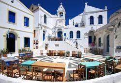 Porta square at Nikia village, Nisyros Island