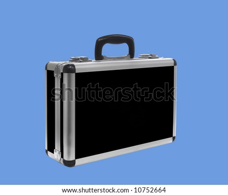 Portable aluminum case for sound and video equipment, isolated