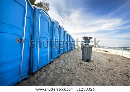 portable bathroom on the beach