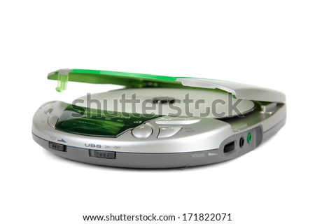 portable cd player isolated on
